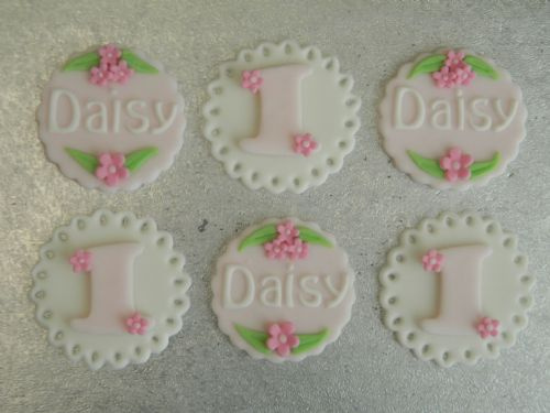 12 Name & Age Cupcake Toppers